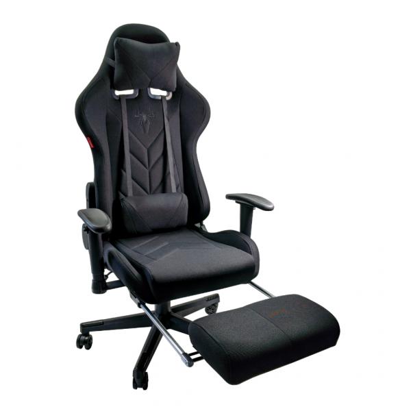 Scaunul Gaming B207 Spider textil cu suport picioare este un scaun acoperit in textil