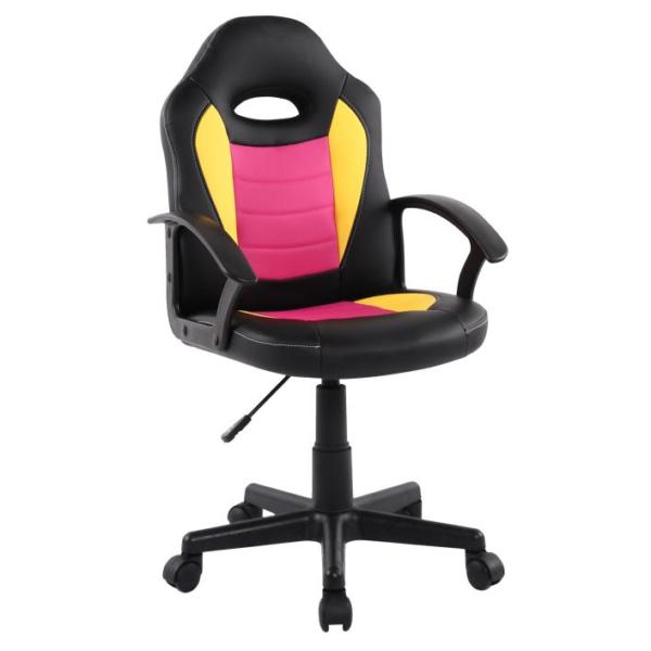 Scaun birou B11 galben roz pentru copii