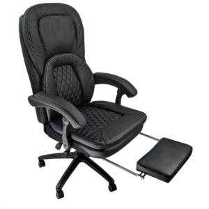Scaun ergonomica Arka Chairs Maraton cu suport picioare, piele ecologica B68