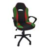 Scaun gaming B14 verde rosu, piele ecologica,