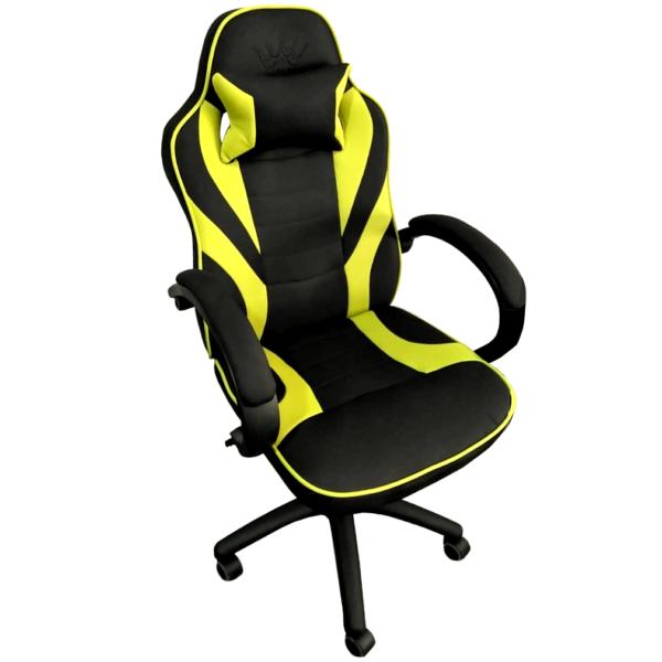 Scaun gaming Arka Chairs B99P negru verde textil anti transpiratie
