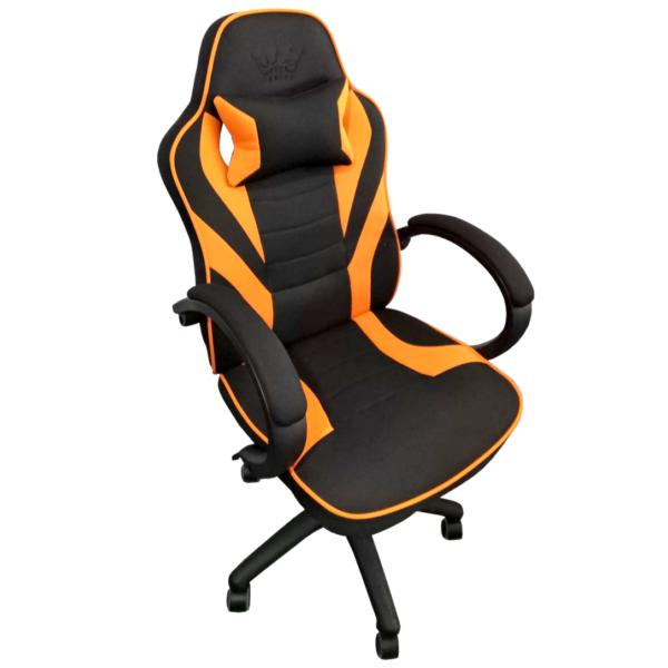 Scaun gaming Arka Chairs B99P negru portocaliu textil anti transpiratie