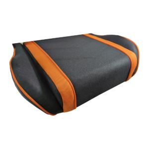 Scaun gaming Arka B64 portocaliu Bluetooth cu boxe incorporate, material textil
