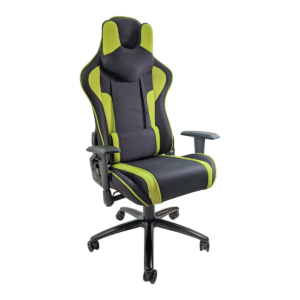 Scaun gaming Arka Chairs B64 verde textil cu boxe incorporate