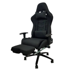 Scaun Gaming Arka Line B61 textil negru cu suport picioare