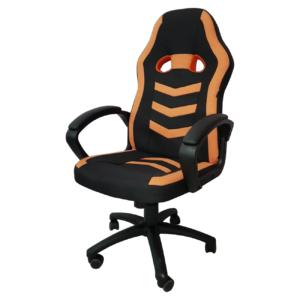 Scaun gaming Arka Chairs B16 portocaliu, material textil anti transpiratie