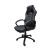Scaun gaming Arka Chairs B17 allblack, piele anti transpiratie, perforata, ecologica