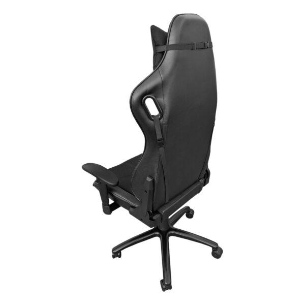 Scaun gaming Arka Chairs B147 Hercules negru textil anti transpiratie