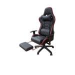 Scaun Gaming Arka Chairs B22 negru cu suport picioare