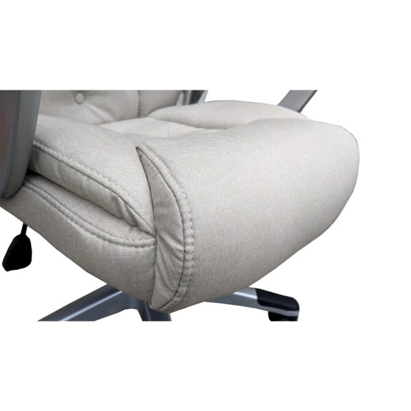 Scaun directorial Arka Chairs Comodo B26 textil crem