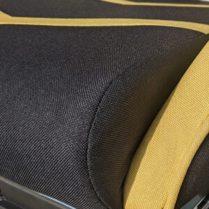 Scaun gaming Arka Line B61 textil black yellow cu suport picioare