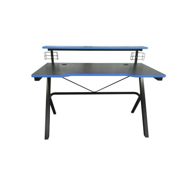 Birou Arka Gaming Z5, suprafata negru albastru/carbon 120*60cm, structura otel 1.5mm