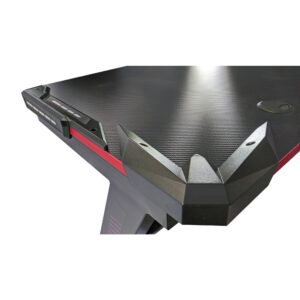 Birou Arka Gaming Z6, lumini led, suprafata negru rosu carbon 120*60cm