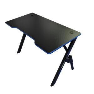 Birou gaming Arka Evolution Z4, Profesional, suprafata negru/albastru carbon 120*60cm, structura otel 1.5mm
