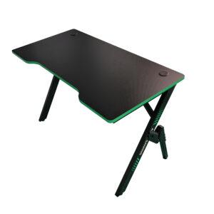 Birou gaming Arka Evolution Z4, Profesional, suprafata negru/verde carbon 120*60cm, structura otel 1.5mm