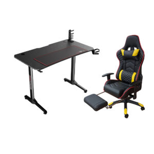 Set Gaming Birou Z7 CU scaun B22 galben suport picioare
