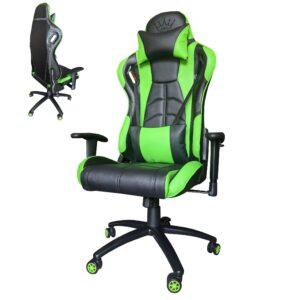 Scaun Gaming Arka Chairs B147 Hercules, Carbon black green