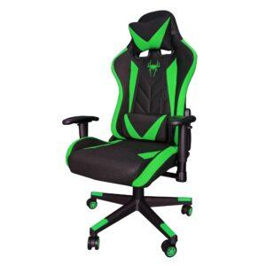 Scaun gaming B200 Spider textil black green. Zendeco.ro