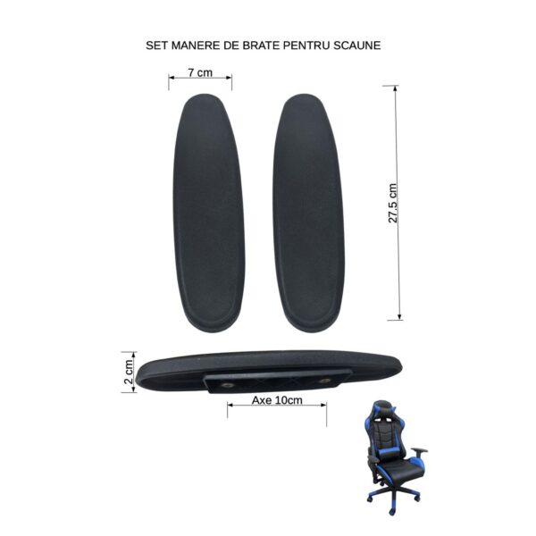 Suportul plastic de brate Distanta dintre gaurile de fixare sunt aceleasi. ( 10cm)