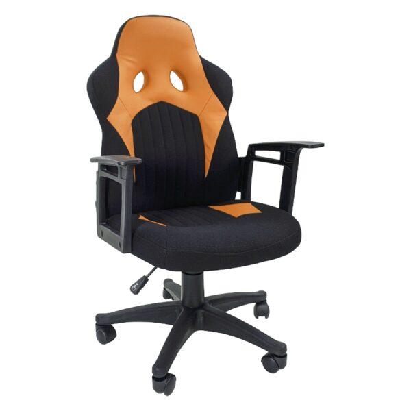 Zendeco.ro-Scaun gaming B012 textil negru portocaliu
