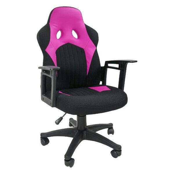 Zendeco.ro-Scaun gaming B012 textil negru roz