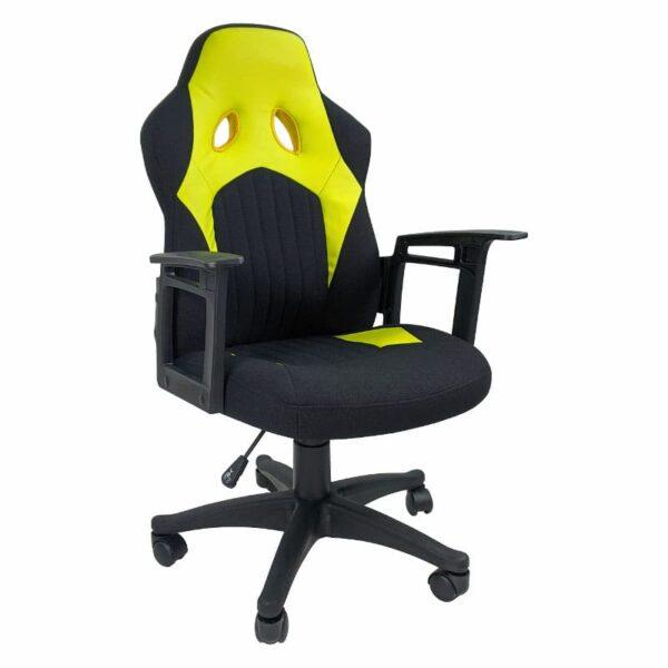 Zendeco.ro-Scaun gaming B012 textil negru galben