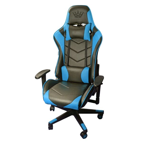Scaun Gaming Arka Chairs B54 SportLine Negru/Albastru piele perforata