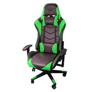 Scaun Gaming Arka Chairs B54 SportLine Negru/Verde piele perforata