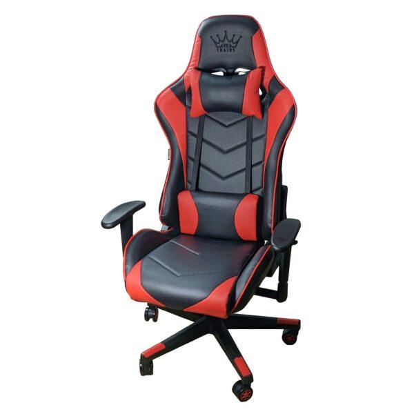Scaun Gaming Arka Chairs B54 SportLine Negru/rosu piele perforata