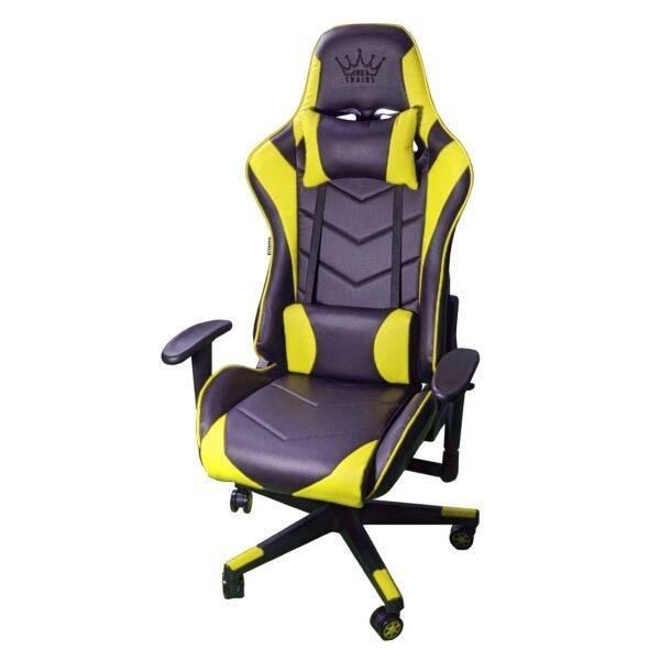 Scaun Gaming Arka Chairs B54 SportLine Negru/Galben piele perforata